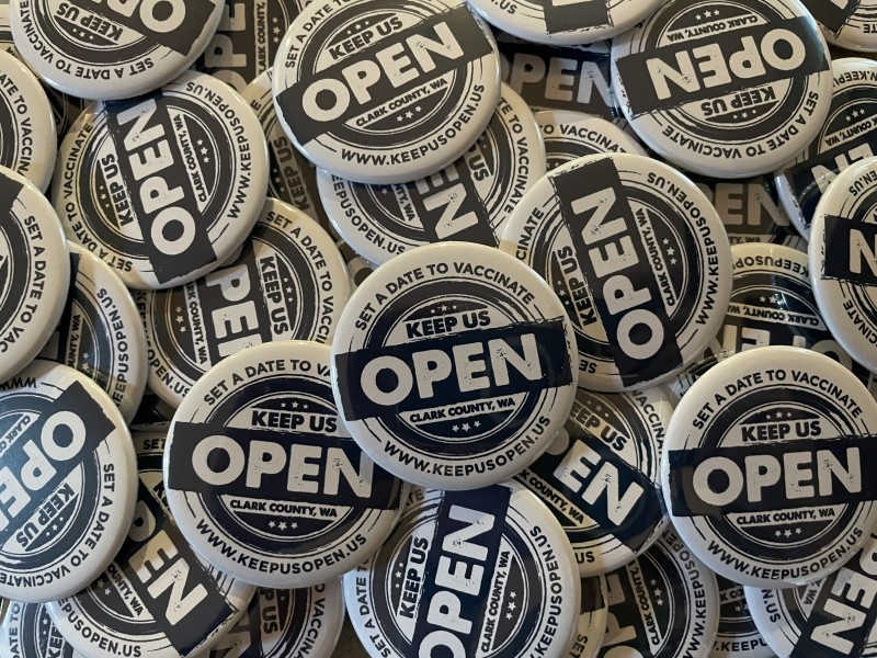 Keep Us Open Button